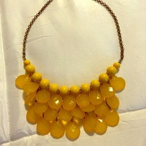 Yellow Layered Beaded Necklace